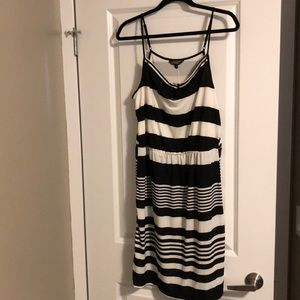 Brand new with tags black and white stripped dress